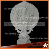 Solid White Thousand-Hand Bodhisattva Figure of Buddha Statue Nss-040