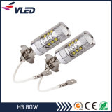 Super Bright H3 80W Projector LED Fog Light DRL