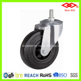 150mm Swivel Screw Black Rubber Industrial Castor (L101-31D150X40A)