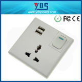 Universal 5V 2.1A Single USB UK Wall Socket with Switch