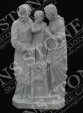 Virgin and Child Sculpture in Pure White Marble Ms-102