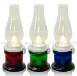 Blowing Control Modern Kerosene Oil Lamp for Bedroom with Glass Shade