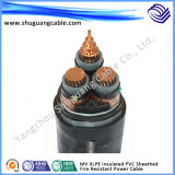 Mv XLPE Insulated PVC Sheathed Fire Resistant Electric Power Cable