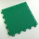 PP Interlocking Play Court Tiles Sports Flooring Square Grass Green