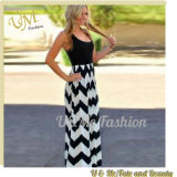 Fashion Chevron Sleeveless Women Slim Maxi Dress