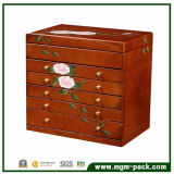 Mirrored Jewelry Wooden Storage Box with Drawers