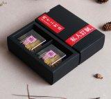 Spot Goods 2 Pack of Black Kraft Paper Mooncake Box, Folded Paper Box, Mooncake Gift Box