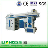 Lisheng 6 Color Central Drum Flexographic Printing Machine in China