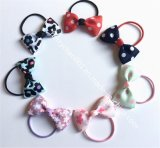 Girls Hair Rubber Bands with Bowknot, No. 17020