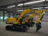 9ton New Crawler Excavators Yellow/0.5cbm Bucket for Sale