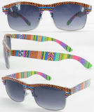2014 Latest Design Fashion Lady Half Frame Sunglasses with UV400