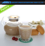 Glass Gonfu Teapot Set with Infuser & Double Wall Cup