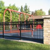 Steel Grills Fence/ Galvanized Steel Picket Fence/Steel Tube Fence