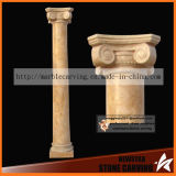 Simple Style Ionic Order Gold Desert Marble Pillar Nsp040