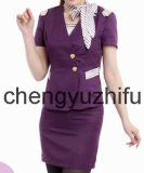 Purple Air Hostess Uniform in Airline (A018)