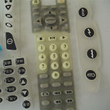 Silicone Rubber Button Keypad with Epoxy Coating