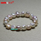 10-11mm Baroque Stretched Natural Fresh Water Pearl Bracelet (E150047)