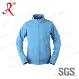 Womens Waterproof Winter Light Blue Softshell Jacket (QF-4049)