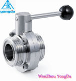 Stailess Steel Male Butterfly Valve - Sanitary