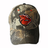 Camouflage Hunting Cap with Front Logo Flat Embroidery