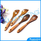 Wooden Utensil Hand Carved Teak Wood Soup Spoons