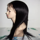 Straight 100% Natural Human Hair Lace Front Wig with Baby Hair