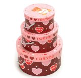 New Style Fashionable and Eco-Friendly Color Printing Round Paper Storage Box for Small Gift Collection