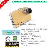 Slim Hot Sale 1.3 Mega Car Dash Camera Digtial Video Recorder Black Box with Motion Detection Car Truck DVR-2443