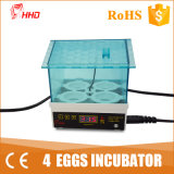 Hhd Brand Chicken Incubator Low Power Consumption 4 Egg Incubator