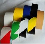 Hot Sales Yellow-Black Stripped PVC Floor Warning Marking Tape with Rubber Adhesive