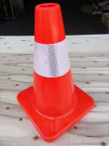 "12"" Orange Traffic Cones with 4"" 3m 3340 Reflective Collar"