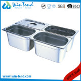 Hot Sale Stainless Steel Electrolytic Restaurant Kitchen 2/1 Size Gastronorm Container