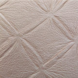 Flower Pattern Embossed PU Synthetic Leather for Decortation (HS-M343)