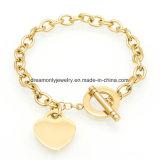 New Arrived Link Chain Bracelets for Women Stainless Steel Love Bracelets Fashion Heart Pendant Fashion Jewelry