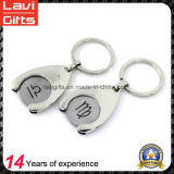 High Quality Euro Size Metal Trolley Coin with Keyring