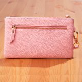 RFID Blocking Functional Soft Leather Lady Wrist Wallet with Zipper Enclosure (3915)