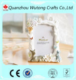 Custom Resin White Flower Picture Frame for Decoration Resin Photo Frame