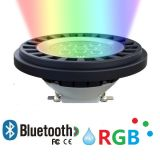 AR111 PAR36 RGB Outdoor LED Spotlight with IP67 Bluetooth Controllable