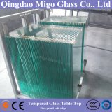 Modern Clear Tempered Glass Table Top with Safe Edges