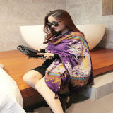 Wool Long Scarf for Middle East Lady or Pashmina Shawl