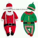 Boys′ & Girls′ Christmas Long Sleeve Suit Children Clothes