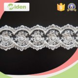 Nylon Lace Fabric Embroidered Stone Flower Embroidery Lace