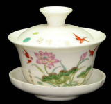 Chinese Porcelain Tea Bowl with Fitted Cover Sj-100