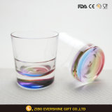 40ml Two-Double Shot Glass with Multicolor Thick Bottom