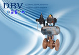 Ce Ts Pneumatic 2-Pieces Flanged Floating Ball Valve