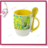 12oz Sublimation Personalized Two Tone Color Mug with Spoon