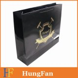 Large Size Landscape Paper Shopping Bags with Hotstamping Logo and Embossing