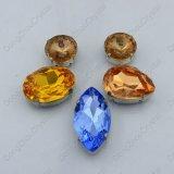 Hot Sale K9 Imitation Sw Crystal Fancy Stone with Metal Claw