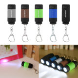Popular Mini Keychain Pocket Torch USB Rechargeable LED Light Flashlight Lamp 0.3W 25lm Multicolor Mini-Torch