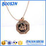 Factory Custom Rose Gold Plated Silver Pendant Necklace Design for Wholesale